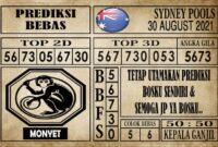 Prediksi Sydney Pools Hari Ini 30 Agustus 2021