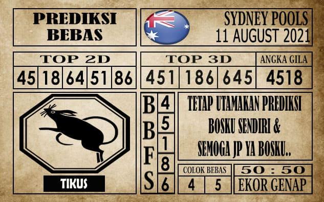 Prediksi Sydney Pools Hari Ini 11 Agustus 2021
