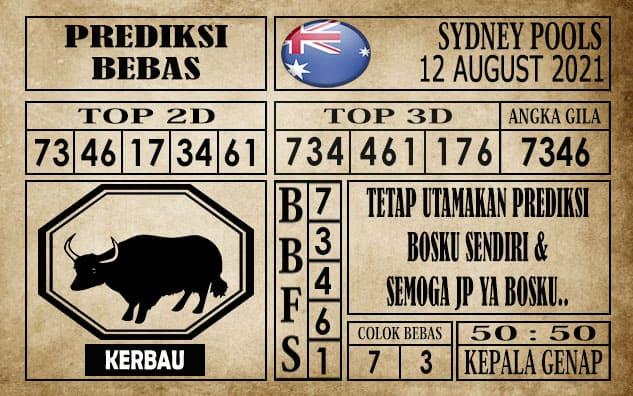 Prediksi Sydney Pools Hari Ini 12 Agustus 2021