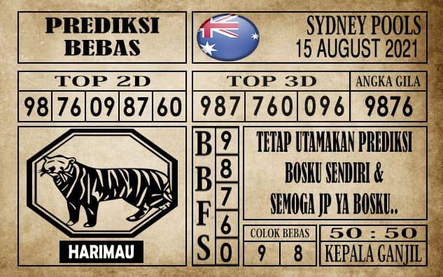Prediksi Sydney Pools Hari Ini 15 Agustus 2021
