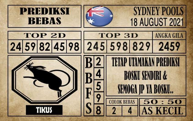 Prediksi Sydney Pools Hari Ini 18 Agustus 2021