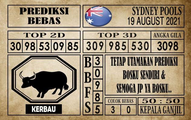 Prediksi Sydney Pools Hari Ini 19 Agustus 2021