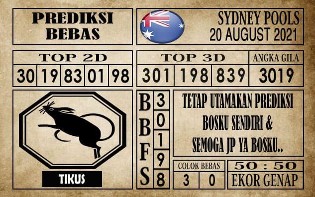 Prediksi Sydney Pools Hari Ini 20 Agustus 2021