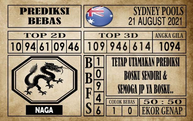 Prediksi Sydney Pools Hari Ini 21 Agustus 2021