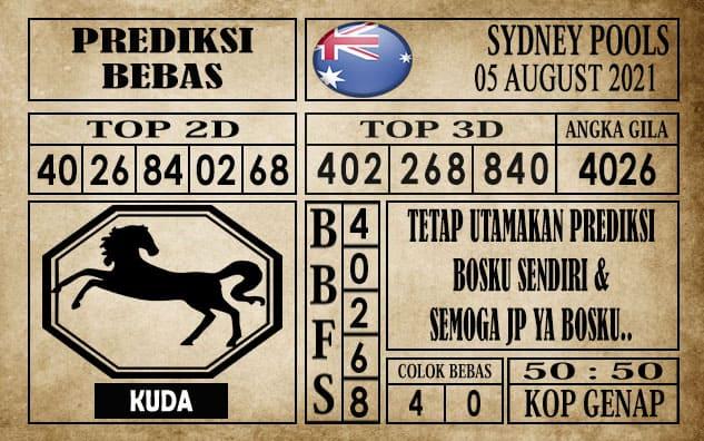 Prediksi Sydney Pools Hari Ini 05 Agustus 2021