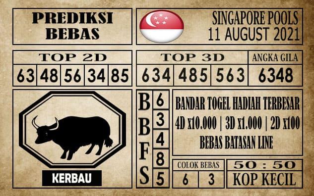 Prediksi Singapore Pools Hari ini 11 Agustus 2021