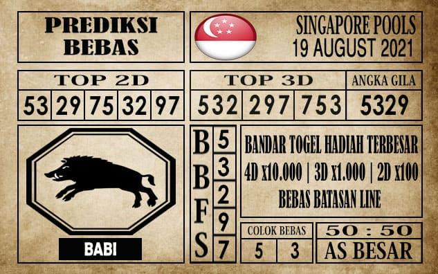 Prediksi Singapore Pools Hari ini 19 Agustus 2021