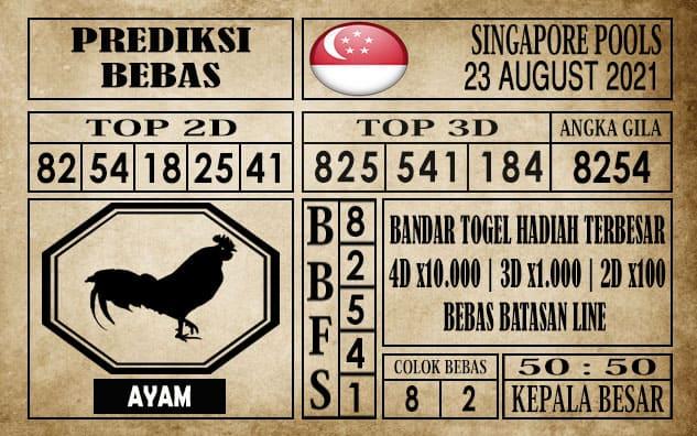 Prediksi Singapore Pools Hari ini 23 Agustus 2021