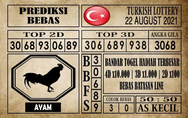 Prediksi Turkish Lottery Hari Ini 22 Agustus 2021