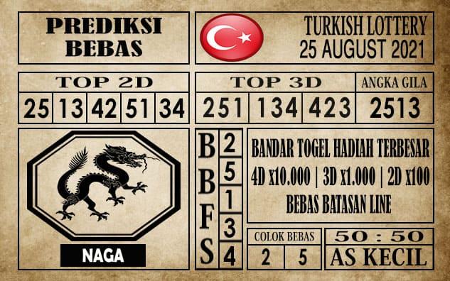 Prediksi Turkish Lottery Hari Ini 25 Agustus 2021