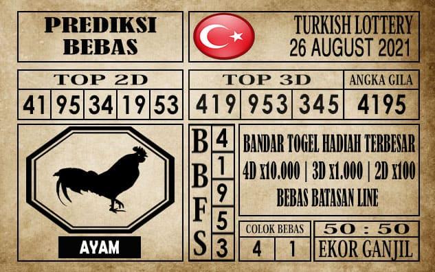 Prediksi Turkish Lottery Hari Ini 26 Agustus 2021