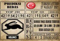 Prediksi Turkish Lottery Hari Ini 27 Agustus 2021