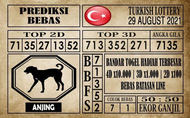 Prediksi Turkish Lottery Hari Ini 29 Agustus 2021