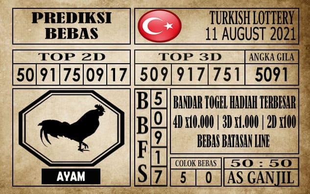 Prediksi Turkish Lottery Hari Ini 11 Agustus 2021