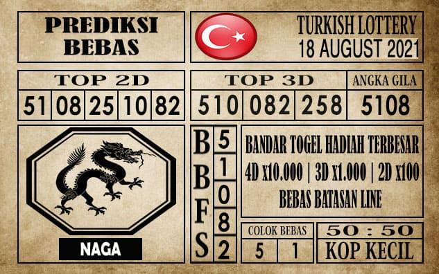 Prediksi Turkish Lottery Hari Ini 18 Agustus 2021