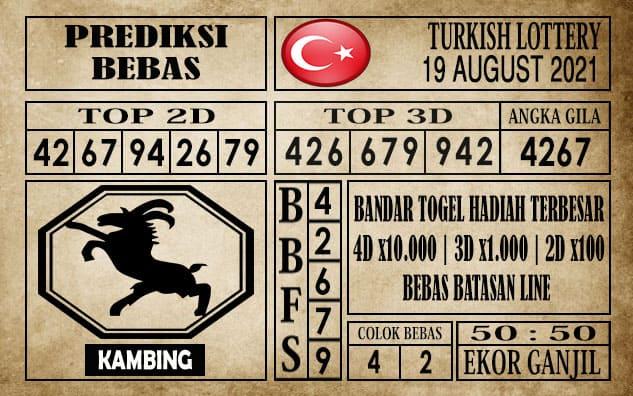 Prediksi Turkish Lottery Hari Ini 19 Agustus 2021