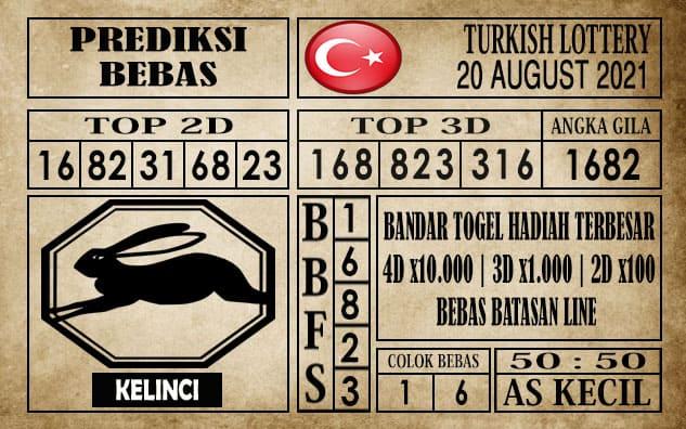 Prediksi Turkish Lottery Hari Ini 20 Agustus 2021