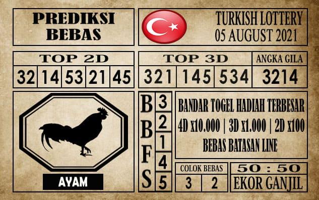 Prediksi Turkish Lottery Hari Ini 05 Agustus 2021