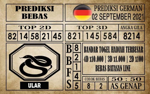 Prediksi Germany Hari Ini 02 September 2021