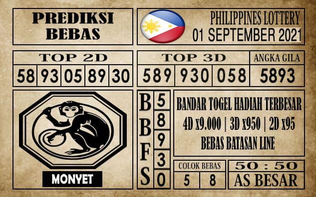 Prediksi Filipina PCSO Hari Ini 01 September 2021
