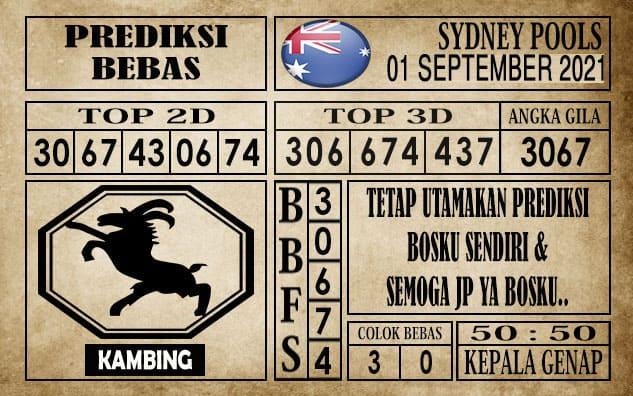 Prediksi Sydney Pools Hari Ini 01 September 2021