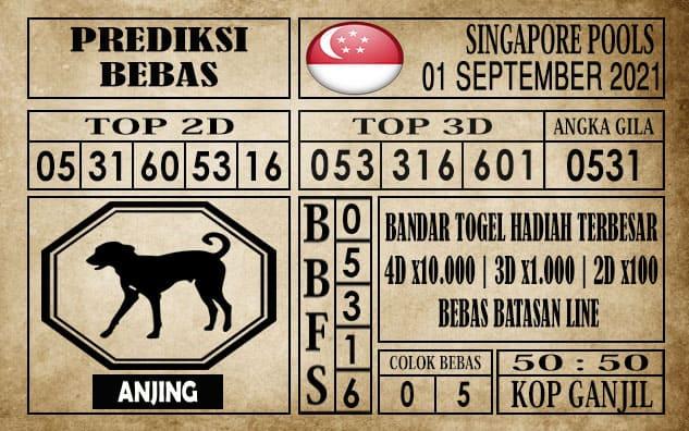 Prediksi Singapore Pools Hari ini 01 September 2021