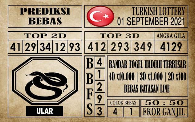 Prediksi Turkish Lottery Hari Ini 01 September 2021